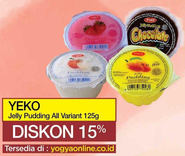 Promo Harga YEKO Jelly Puding All Variants 125 gr - Yogya