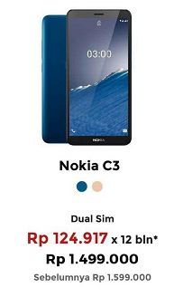 Promo Harga NOKIA C3 Smartphone  - Erafone