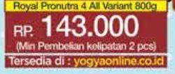 Promo Harga NUTRILON Royal 4 Susu Pertumbuhan All Variants 800 gr - Yogya