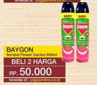Promo Harga BAYGON Insektisida Spray Flower Garden 600 ml - Yogya