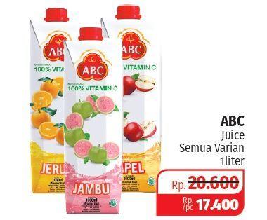 Promo Harga ABC Juice All Variants 1000 ml - Lotte Grosir