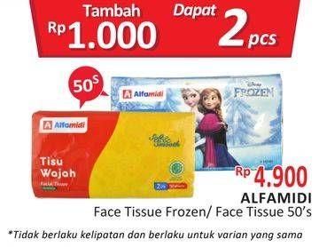 Promo Harga ALFAMIDI Facial Tissue Frozen 50 sheet - Alfamidi