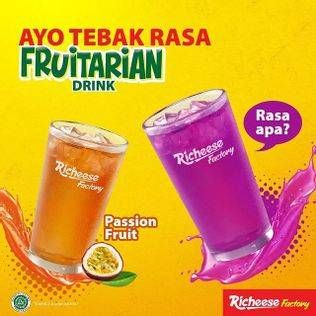 Promo Harga RICHEESE FACTORY Frutarian Drink Passion Fruit, Dragon Lemonade 1 ltr - Richeese Factory
