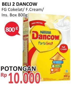 Promo Harga DANCOW FortiGro Susu Bubuk Instant Cokelat, Full Cream 800 gr - Alfamidi