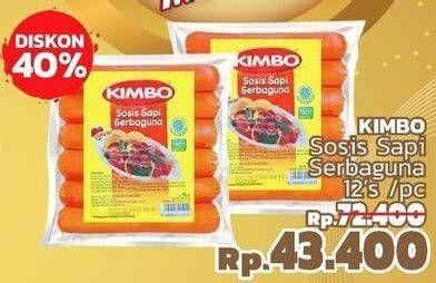 Promo Harga KIMBO Sosis Sapi Serbaguna 12 pcs - LotteMart