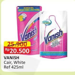 Promo Harga VANISH Penghilang Noda Cair Pink, Putih 425 ml - Alfamart