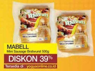 Promo Harga MABELL Bratwurst 500 gr - Yogya