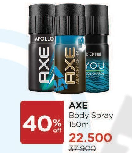 Promo Harga AXE Body Spray 150 ml - Watsons